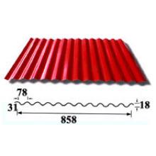 Folha de telhado ondulado / Folhas de cobertura de alumínio (HY-R858)