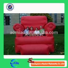 Réplicas modelo comercial interessante sofá inflável, cadeira inflável, throne inflável