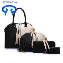 2021 wholesale fashion large capacity 3-7 pcs pu leather women handbag set