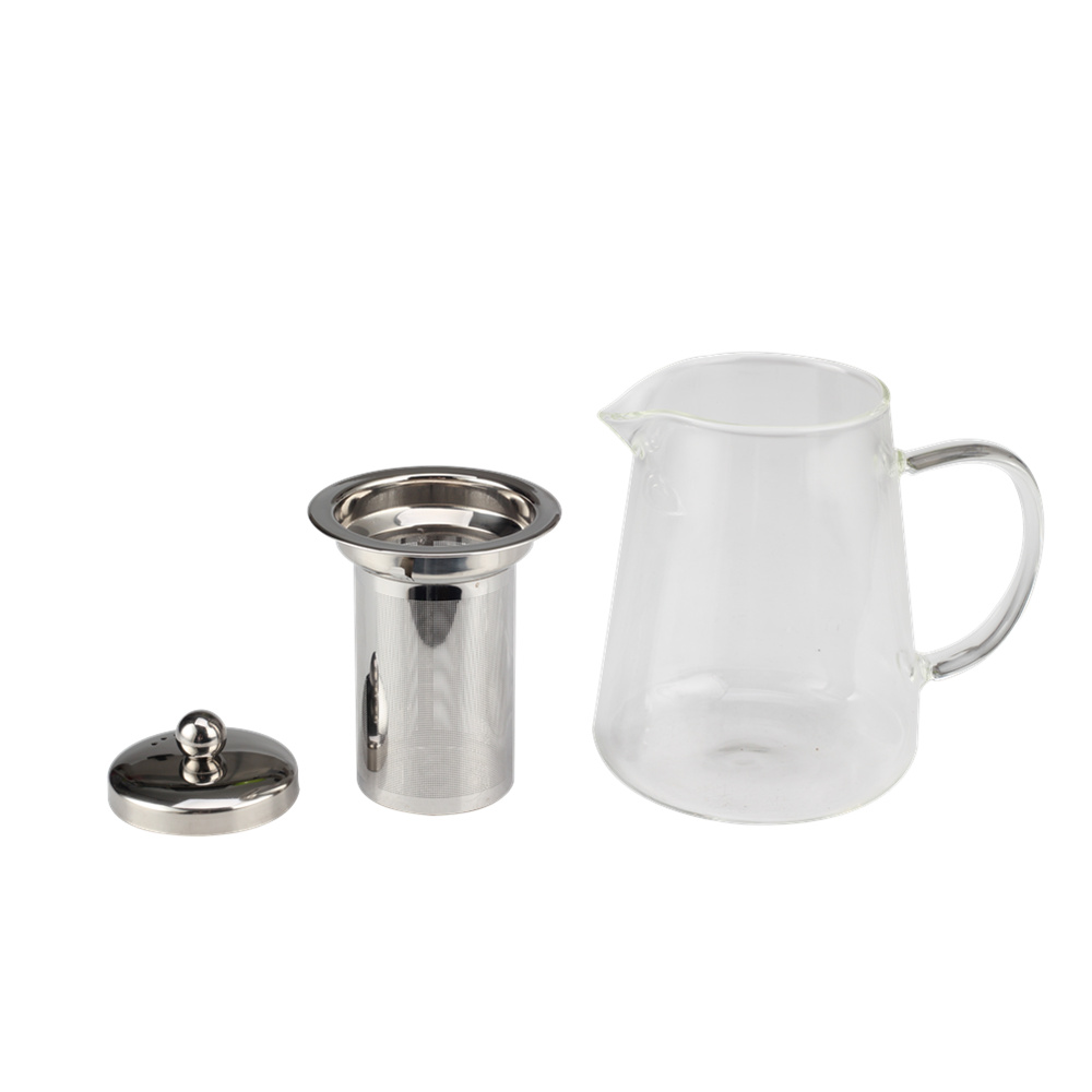 Household Glass Tea Pot With Stainless Steel Infuser
