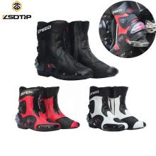 Männer Motorradstiefel Bike Reitschuhe Leder Racing Schuhe Motocross Off-Road Moto Mann Boot Zapatos Hombre