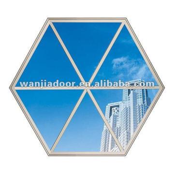 Fenêtre en forme d'octogone / PVC Fenêtre fixe en forme d'octogone