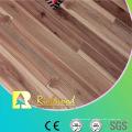 Suelo laminado grabado en madera de la nuez de 12.3mm E0 HDF AC4