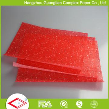 Papel de envolvimento de alimento à prova de graxa branco da impressão do revestimento do silicone 40g disponível