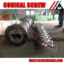 upvc profile extrusion wear resistance conical screw cylinder