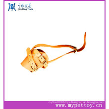 Mult Cow Leather Pet Muzzle with Metal Buckle