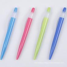 Transparent Colorful Barrel Plastic Ballpoint Pen for Promotion Tc-6007