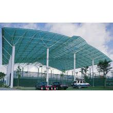 Material ligero del edificio del acero de la armadura del techo para la corte del bádminton