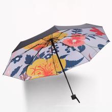 Flower Sunny Rain Dual Purpose Small Fresh Creative Full Shading Ultraviolet 5 Fold Umbrella