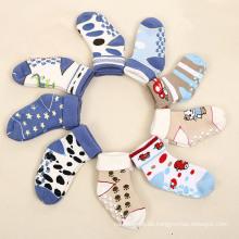Kinder Kinder Baby Baumwolle voll Terry Socken mit Turn-Over Welt (KA405)