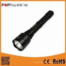 Poppas F2 High Power 800 Lumen 2PC 18650 Batteries Long Range LED Tactical Flashlight