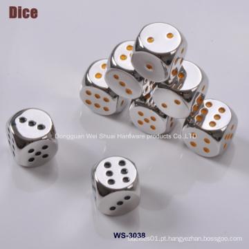Dados do entretenimento feitos da liga do zinco, suprimentos do casino, dados metálicos high-grade, jogo