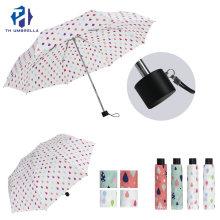 Fashion Aluminum Gift Windproof Umbrella/Compact 21 Inch Manual Open & 3 Folding Umbrella for Lady