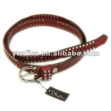 Hot Sell Leather Belt Studs Cinto de couro Cinto de couro estreito