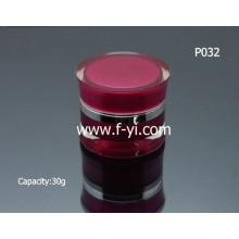 Tarro cosmético de acrílico vacío de la manera 30g de la venta caliente