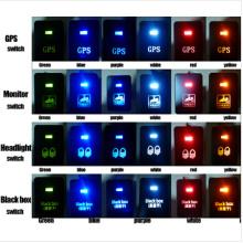 Toyota Push Switch Zombie Lichter Symbol - Weiß / Blau / Orange / Grün / Rot LED