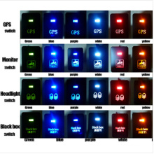 Toyota Push Switch Zombie Lights Symbol - White /Blue/Orange/Green/Red LED