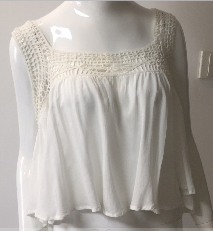 Woman White Viscose Blouse