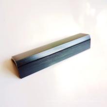 Cadre de rail supérieur en aluminium anodisé brossé pour salle de douche