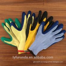 10 gauge 5 luvas de polycotton de fios com latex revestido na palma