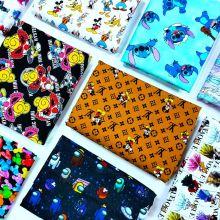 140GSM Tela de ropa de algodón de popelina orgánica impresa digital