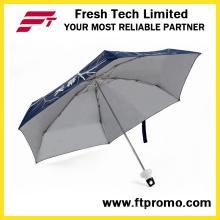 Flasche Form manueller geöffnet 5-Abschnitt Falten Regenschirm