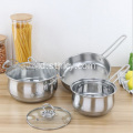 Set Pot Stainless Steel dengan Gift Set Tiga potong