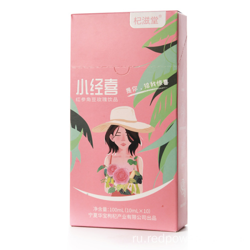 QIZITO Red Ginseng Carob Rose Compound Drink 100мл.