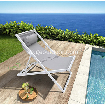 Garden Aluminium Folding Sling Chair