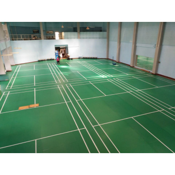 Mudah memasang PVC Badminton sports court Flooring