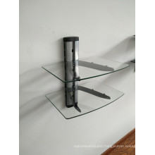 DVD Bracket/Silver Tube with Clear Glass