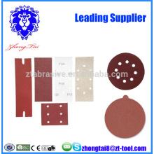 aluminum oxide abrasive flocking sand paper disc