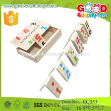 2015 new toys wooden number domino kids game