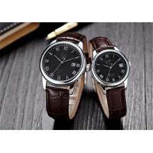 Yxl-711 PU Leather Mens Womens Lovers Couples Dress Analog Quartz Wrist Watches
