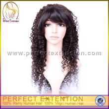 Wholesale Price Peruvian Human Hair Afro Curly Full Lace Hair Wig