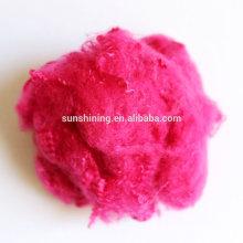 Fibra química de tricô colorido Fio de poliéster