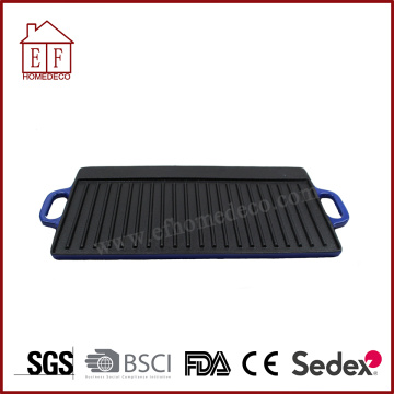 Blue Men Cast Iron Grill Pan Griddle