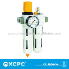 Air Source treatment-XOU series Filter regulator+Lubricator-FRL-Air Filter Combination-Air preparation Units