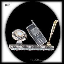 K9 Crystal Office set com relógio de ouro