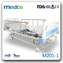 M201-1 Две рукоятки ручного управления антикварная кровать пациента с роликами