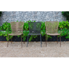 Comfortable Design PVC Rattan Outdoor Dining Chair Wicker Furniture