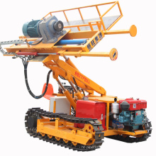 Portable soil and rock anchor crawler mounted drill machine