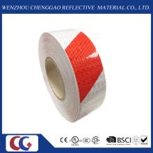 Vermelho / Branco Duplo Cores Stripe Design Reflective Warning Tape (C3500-S)