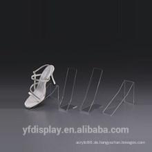 Klare Acryl-Schuh-Halter