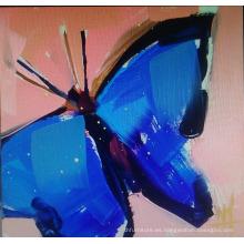 Pintura al óleo de la mariposa