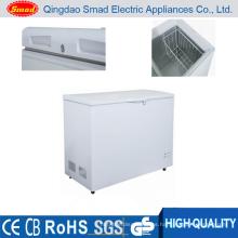 Congelador de puertas sólidas con puerta solar de uso comercial o doméstico
