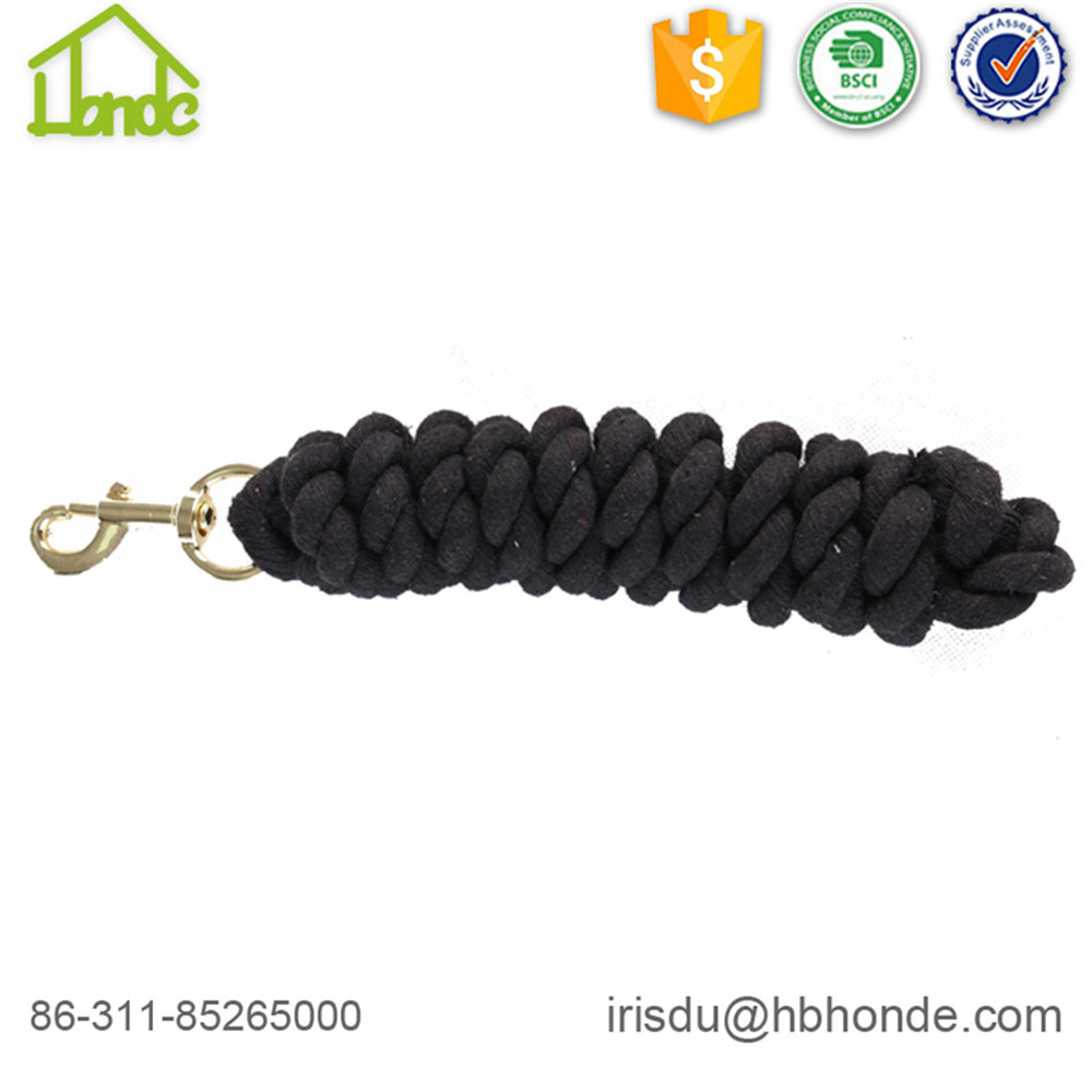 black cotton lead rope