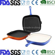 Nonstick Enamel Porcelain Cast Iron Grill Pan China Manufacturer