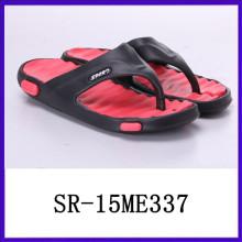Nuevo diseño Twe capa de la suela de los hombres de peso ligero pantalones eva zapatillas de playa eva zapatilla