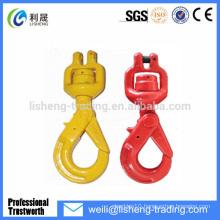 Factory direct sales safety swivel clevis hook with latch